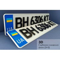 3D номери на металевій основі