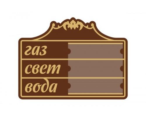 Табличка для показників фігурна