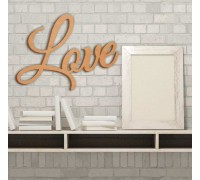 """Декоративний елемент з фанери """"Love"""""""