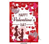 "Плакат до дня закоханих ""Valentine's day"""