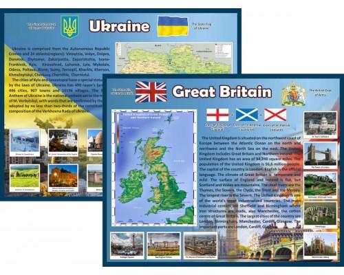 """Стенди в кабінет англійської мови """"Україна і Великобританія"""""""