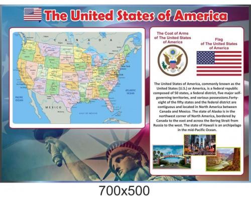 """Куток """"США"""" для кабінету англійської мови"""