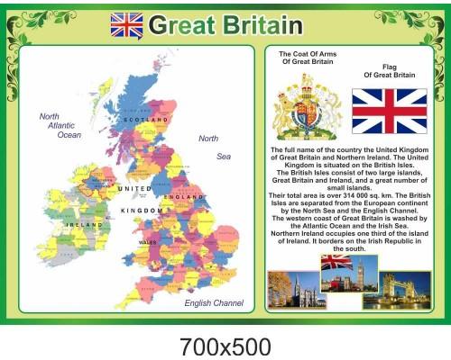 """Стенд з англійської мови """"Великобританія"""""""