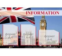 """Інформаційний стенд з англійської мови """"Британія"""""""