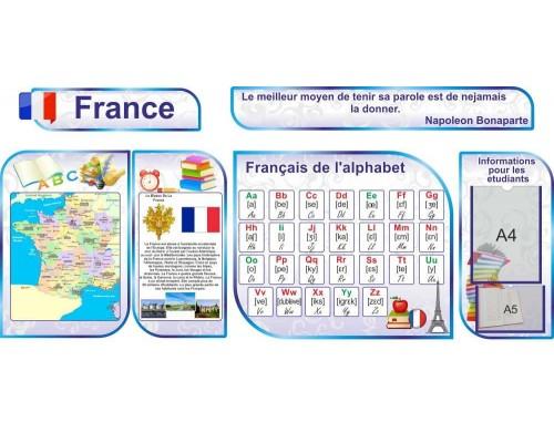 Комплект стендів з французької мови