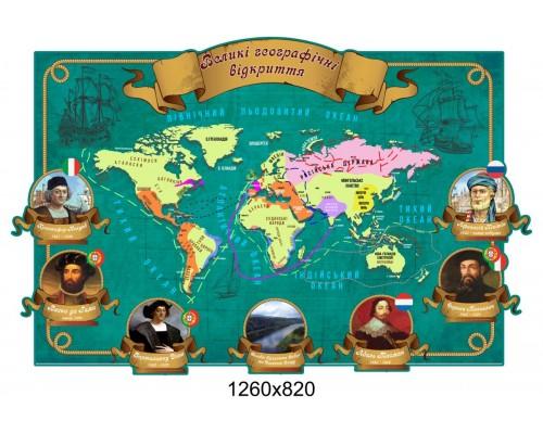 """Стенд """"Великі географічні відкриття"""""""
