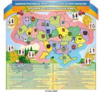 """Стенд з історії """"Історико-етнографічні землі України"""""""