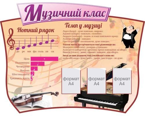 "Стенд для кабінету музики ""Музичний клас"""