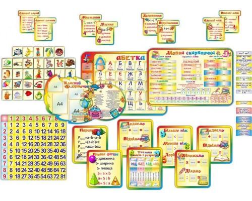 """Комплект інтерактивних стендів для початкової школи """"Веселка"""""""