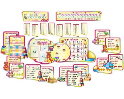 """Комплект розвиваючих стендів для початкової школи """"Інтерактив"""""""