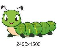 "Стенд ""Гусениця"" для оформлення математичного класу"