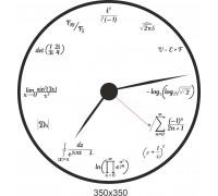"""Стенд світлий """"Годинник з механізмом"""" для математичного класу"""