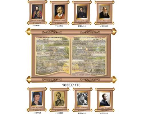 Комплект стендів з російської літератури