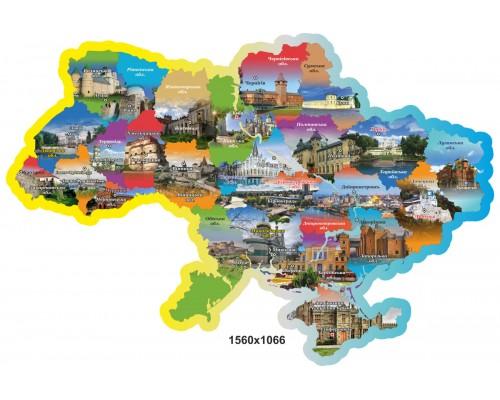 """Стенд """"Кольорова мапа України"""""""