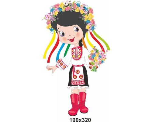 """Декоративний елемент """"Українка з віночком"""""""
