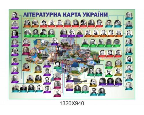 Прямокутний стенд з української літератури