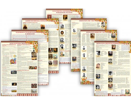 Інформативний комплект стендів для вивчення української літератури
