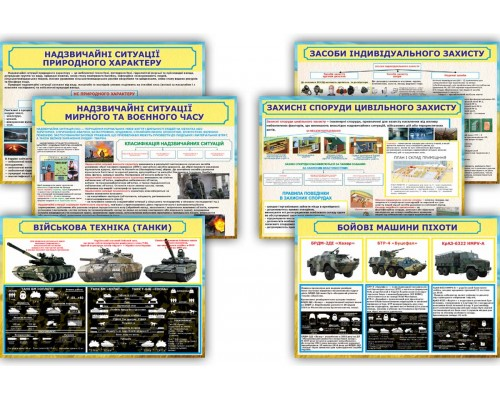 Комплект прямокутних стендів для військової частини