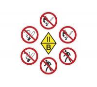 Комплект попереджувальних знаків для військової частини
