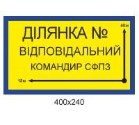 """Табличка для військової частини """"Ділянка"""""""